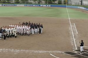 松山北高野球部創部100周年記念試合時の写真です。クリックすると拡大します。
